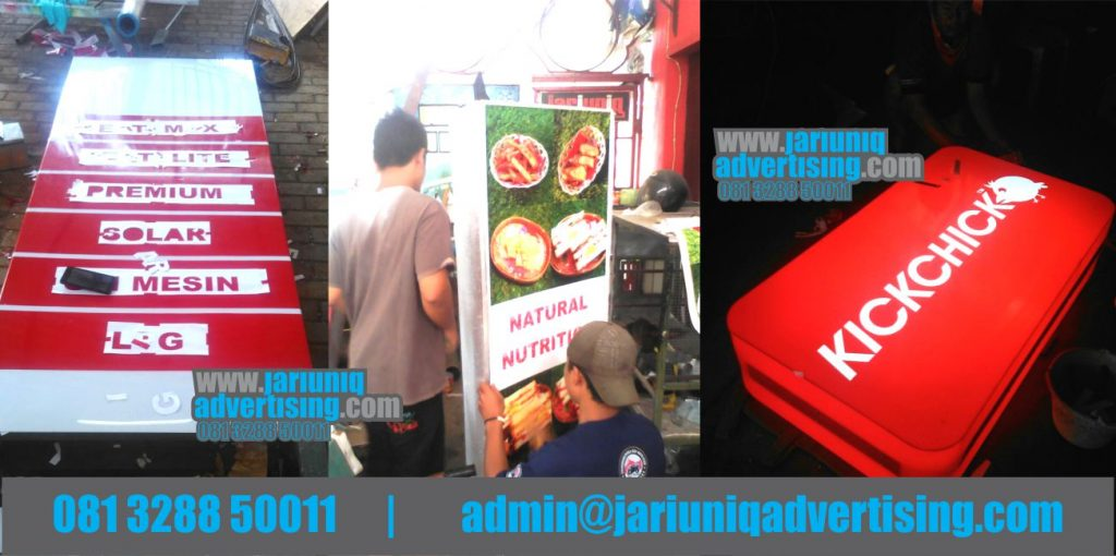 Jasa Advertising Jogja Neon Box Akrilik kickchik Pom Di Yogya