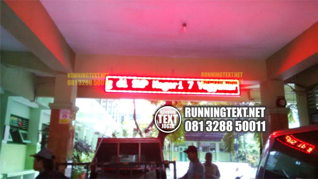 Harga pembuatan Running Text murah di jogja