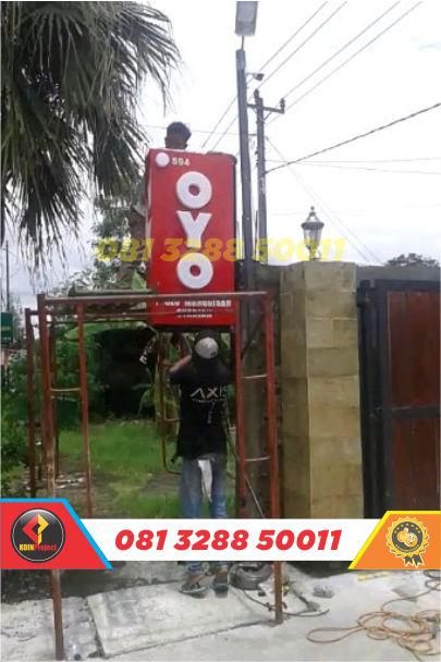 harga huruf timbul oyo rooms di Jogja