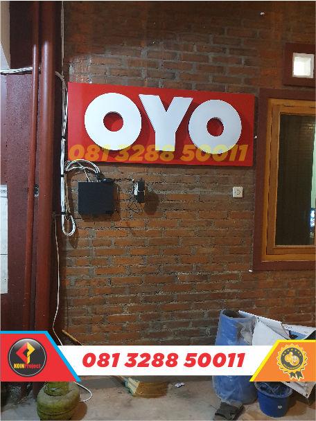 harga huruf timbul oyo rooms