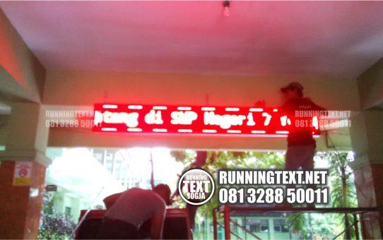 Bagaimana cara pembuatan running text dengan biaya murah di Jogja
